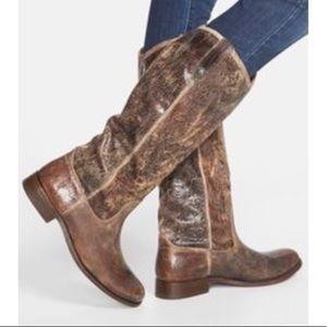 Frye Melissa button crackle glazed pullon boots